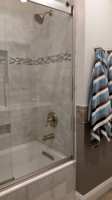 Newly renovated private bath