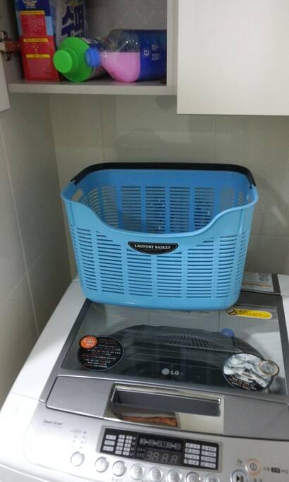 세탁 및 세제 이용 가능해요.