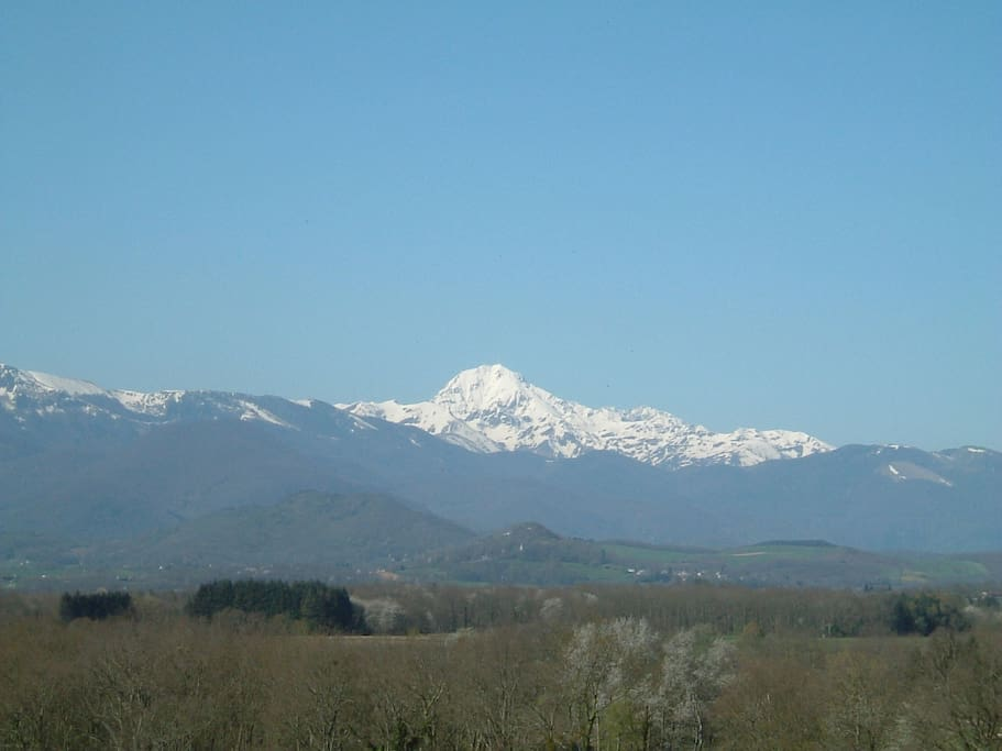 The Pic Du Midi view from the garden