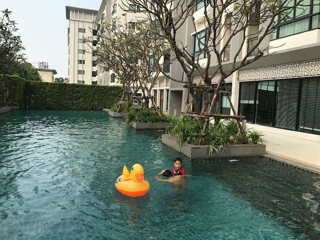 Free pickup Cozy Mansion nr airport - Bangkok - Daire
