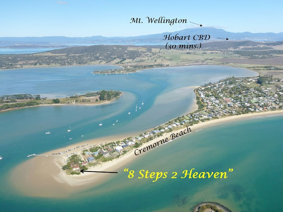 8 Steps to Heaven & Cremorne Beach, Only 30 mins. from Hobart