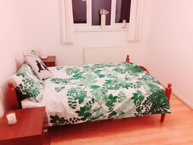 Bright airy double room with great views