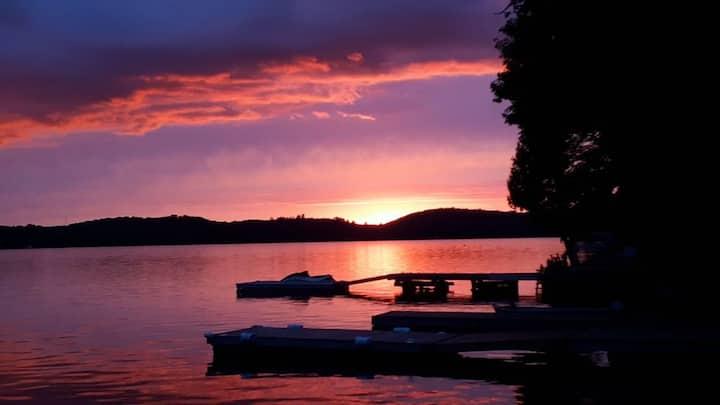 Beautiful sunset views, on pristine Lake of Bays!