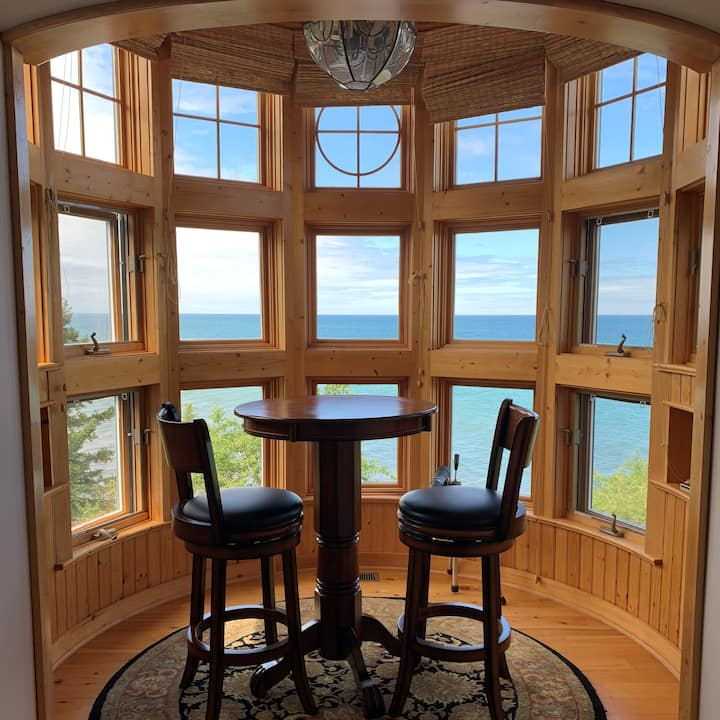 Keweenaw Castle: Turret Suite  Waterfront Treetop