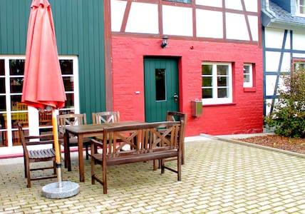 Altes Bauernhaus am Vennbahnradweg, Kuhstall