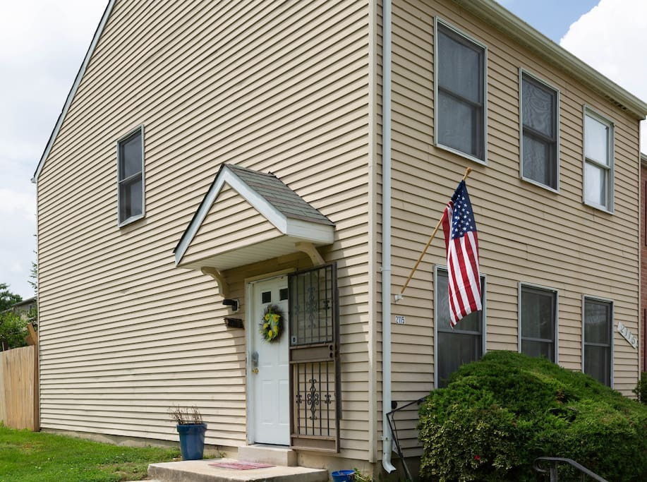 simply identify the home by looking for our American flag displayed on the side of the house if the numbers are to small to see at first glance