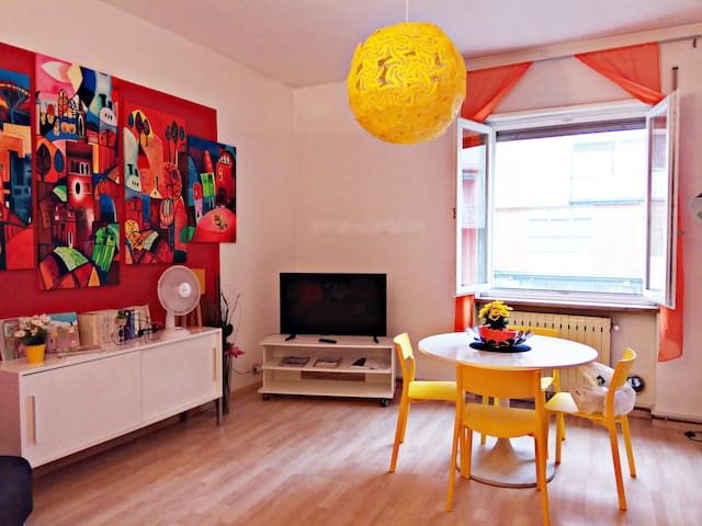 Colorful apartment!