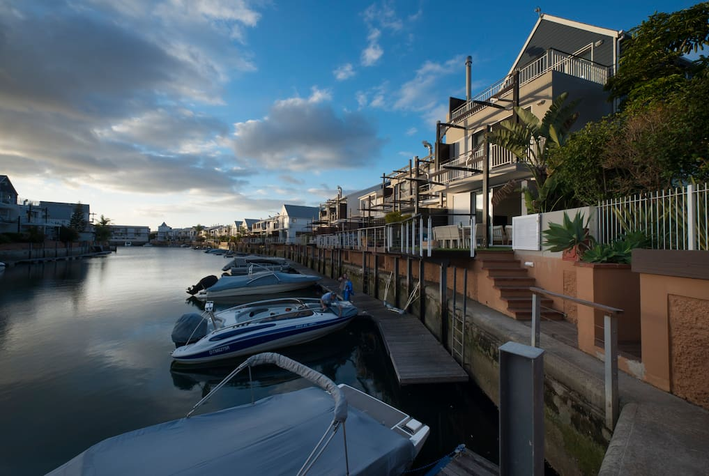 Luxury Apartment on the canal with private mooring. Three bedrooms all with private bathrooms.
