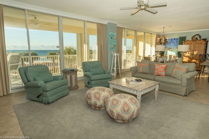 Oceania 201 - Rare 3 BR End unit with large balcony on the beach
