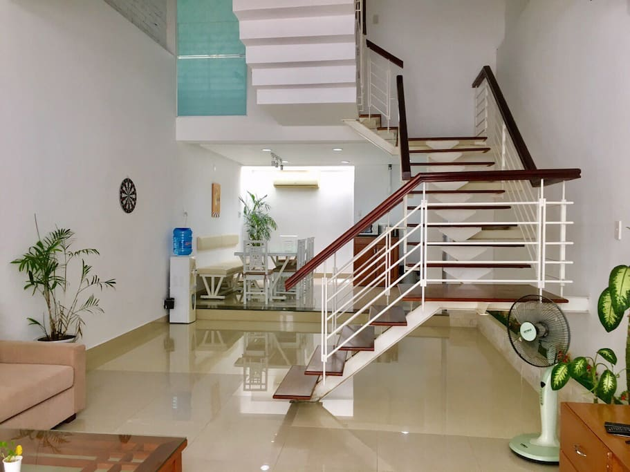 """ We really enjoyed our time in Da Nang. We had a large group and Kate was very welcoming. She worked with us to get checked in as soon as possible and was able to give recommendations when we asked. She was also very responsive when we contacted her through text. The house was very clean and had a fresh water jug that was replaced when empty which was very convenient. It slept 10 fairly easily, but 6 were bunking together in one room.""- Tommy(US)"