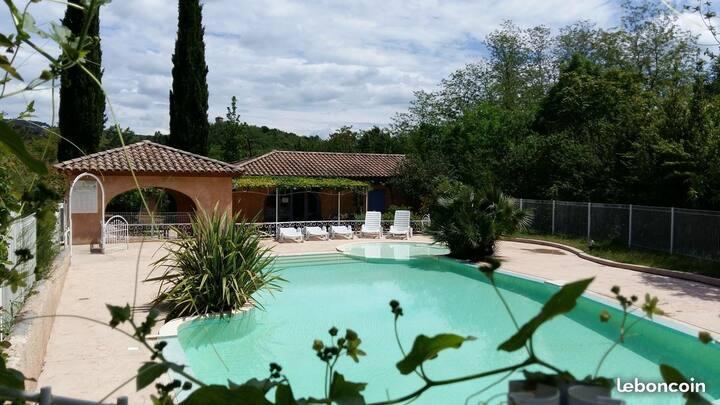 Studio Loft Eden, 3 *, climatisé  terrasse piscine
