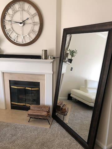 Living Room Fire Place Area