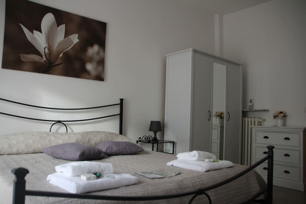 Double room with private bathroom and private balcony