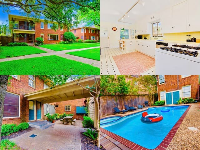 Rice Village Best 3BR/2Ba + POOL, Family Perfect