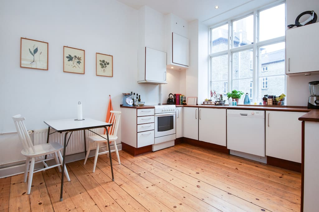 The shared kitchen that you can use as much as you want