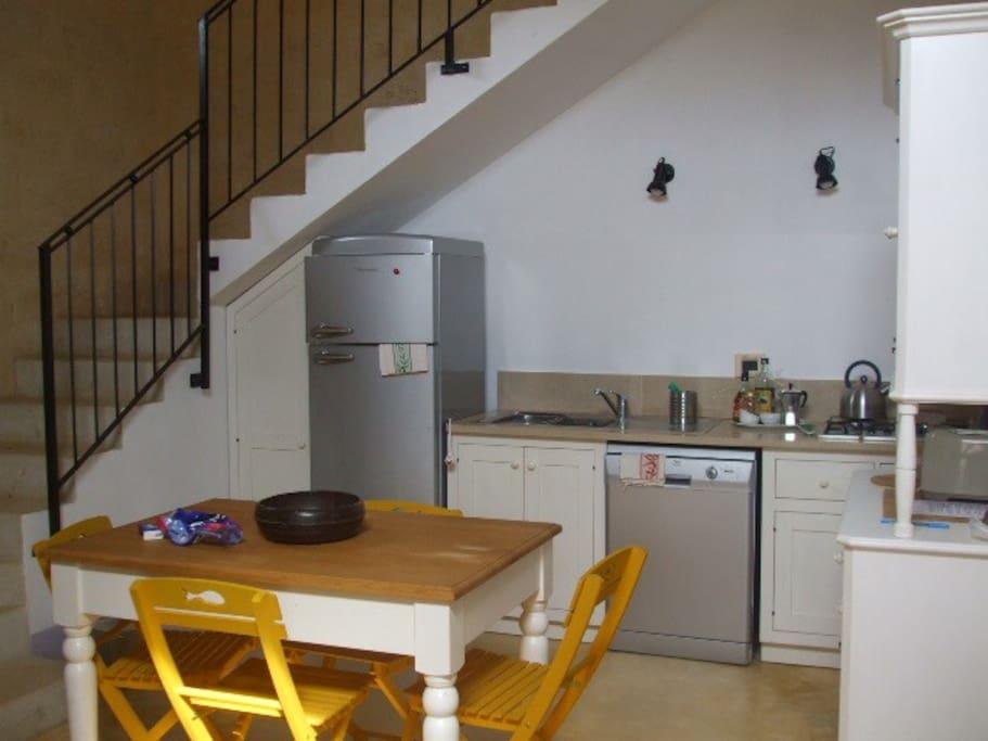 Cucina della casina, competamente attrezzata