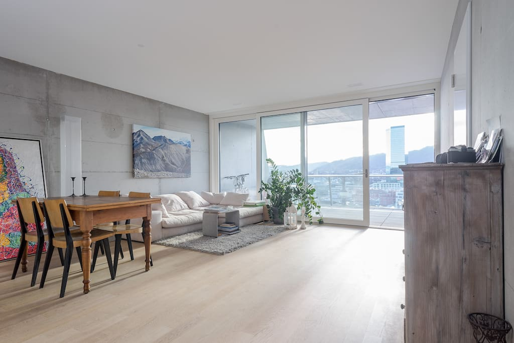 Amazing view and big terrace apartments for rent in for Terrace zurich