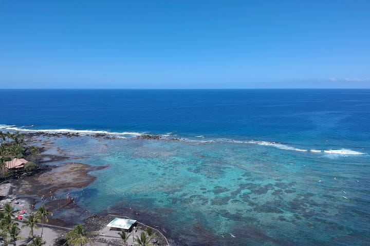 Awesome Ocean View, Snorkel Beach, Private Home
