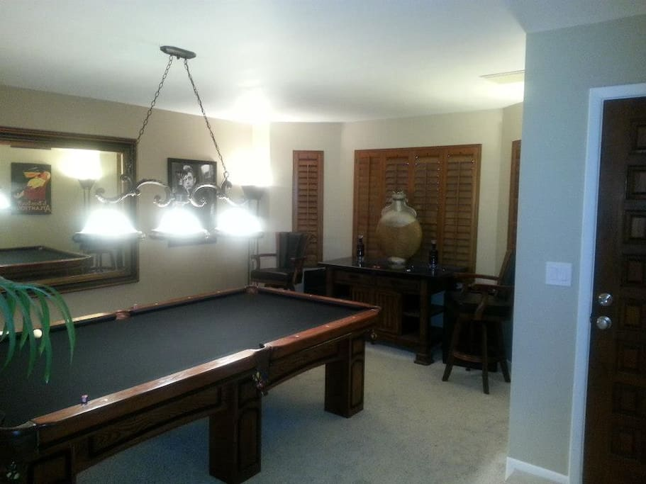 pool room with 8' Conley pool table.