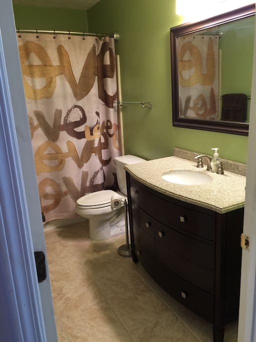 * Bath two steps from bedroom (mostly private).