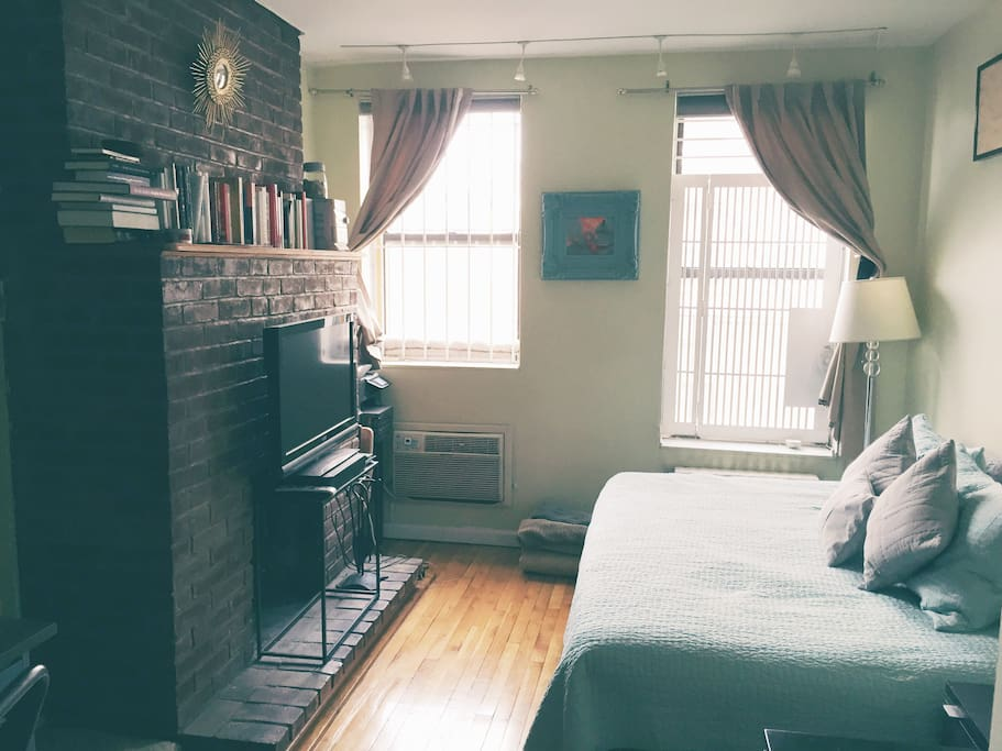 Sunny, cozy, and warm living area.