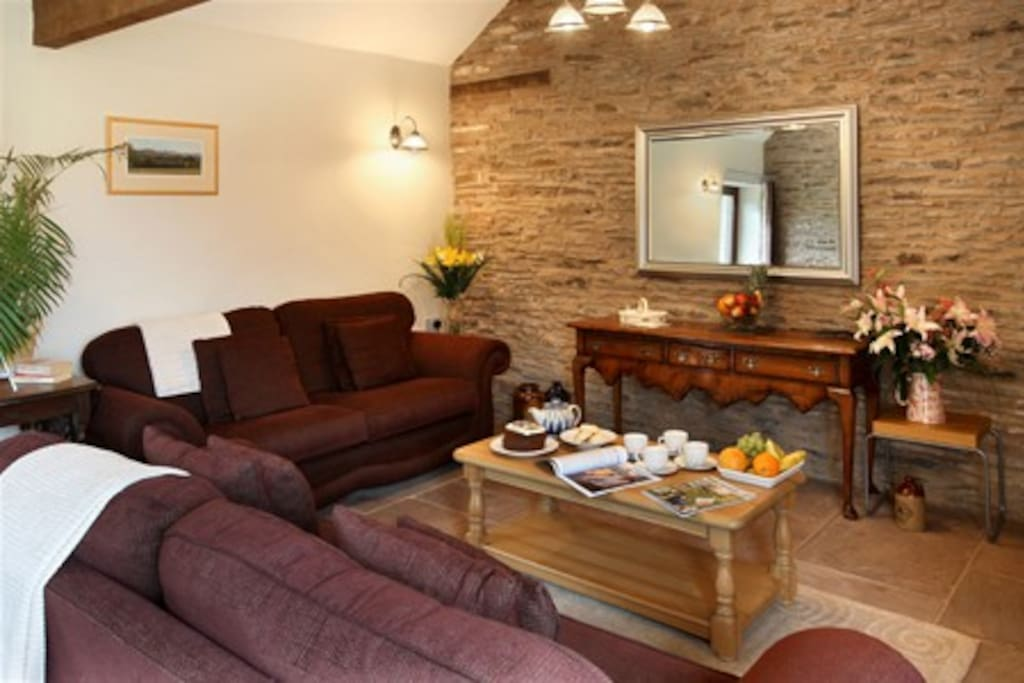 Enjoy the spacious living room with television, stereo, free WiFi, ipod dock.