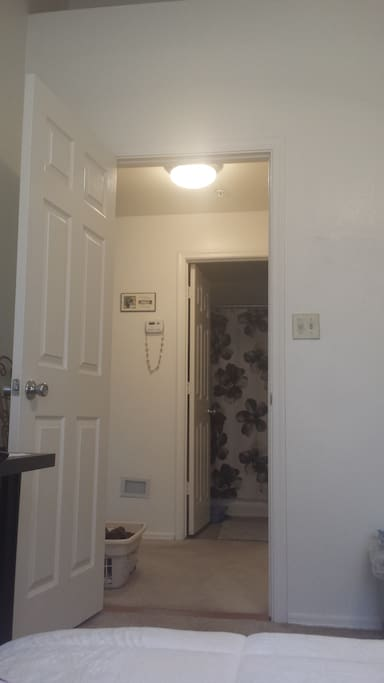 Room and bathroom are close together.  Both private for your use only. Clean and new.