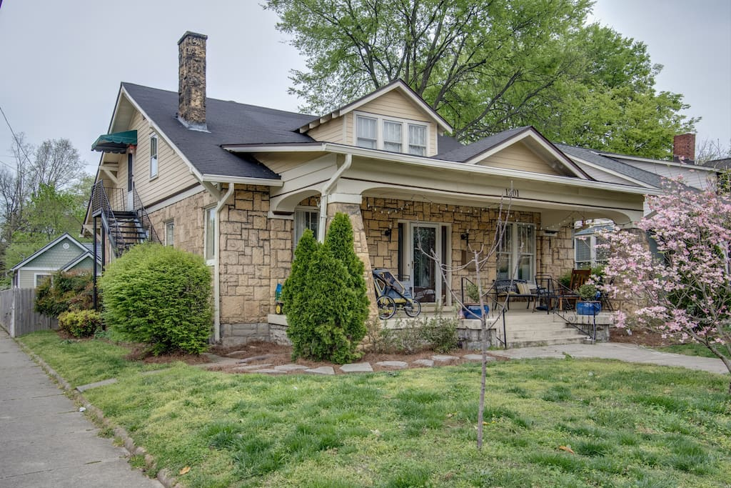 This quaint home is located in historic East Nashville.