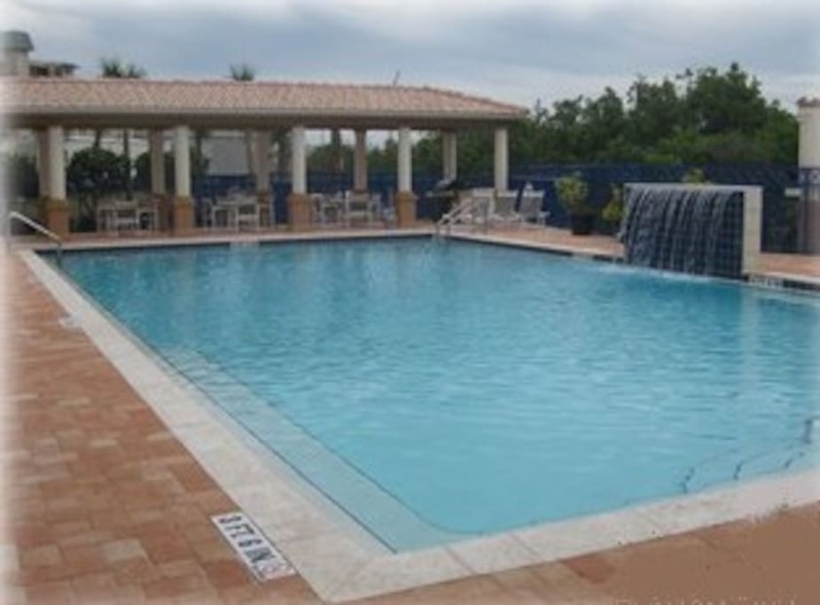 Heated pool located at clubhouse #2 with gas barbecues