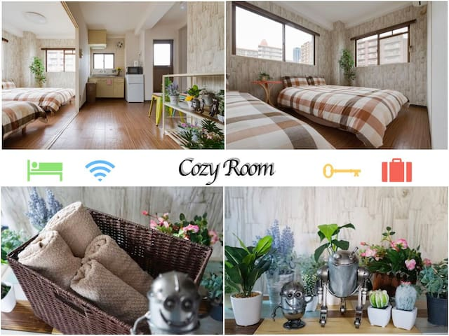 Cozy Room near Umeda(Osaka) with free pocket wifi