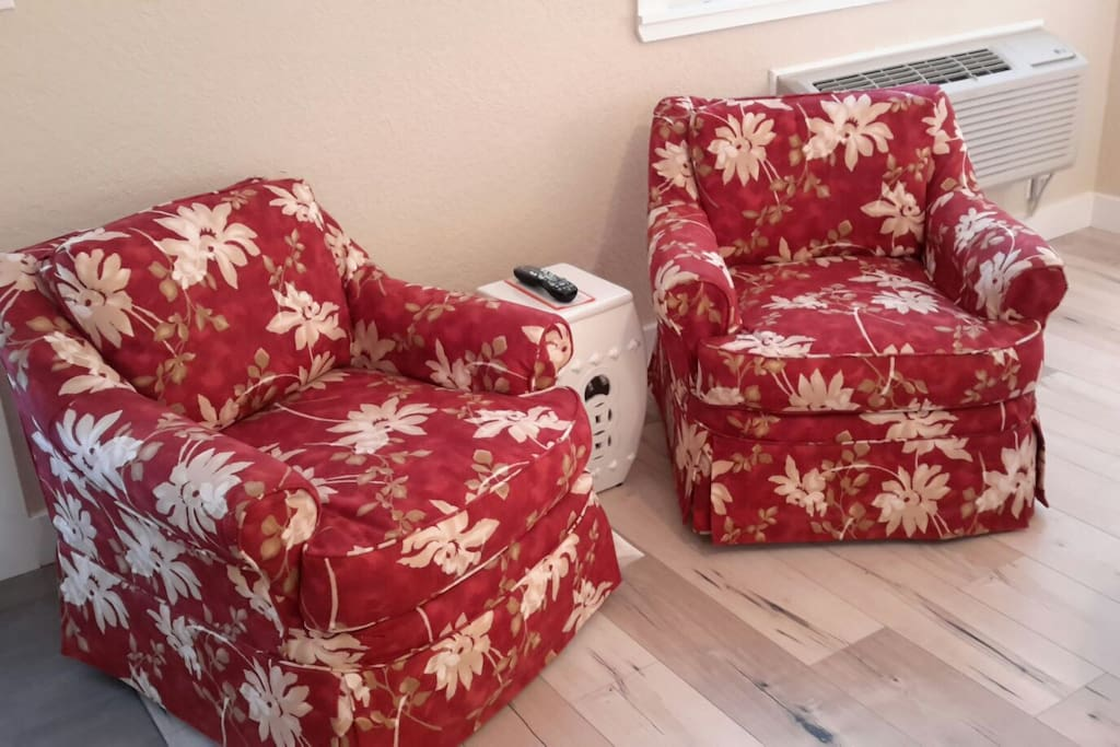 Comfortable seating for rest or watching TV.