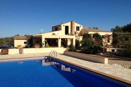 Spanish villa + pool - sleeps 8/9 - El Perelló - Casa