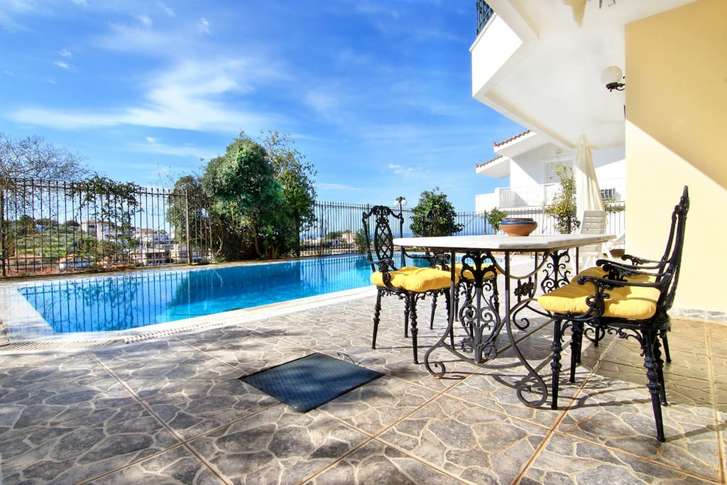 Enjoy your coffee or drink in our amazing pool