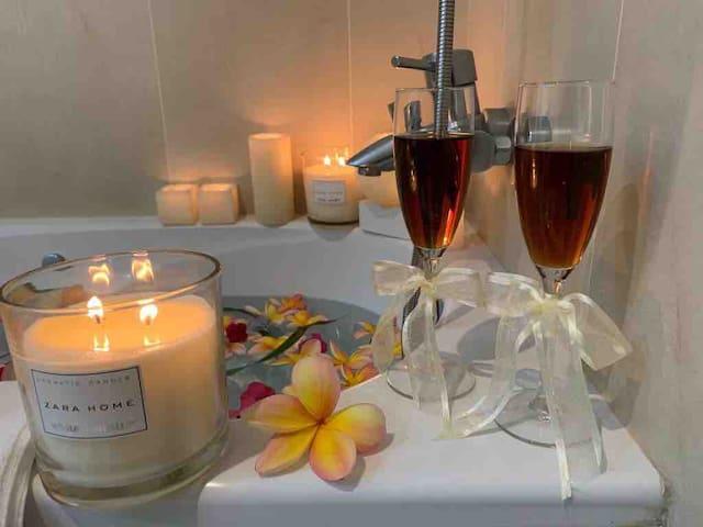 Momentos românticos no nosso jacuzzi