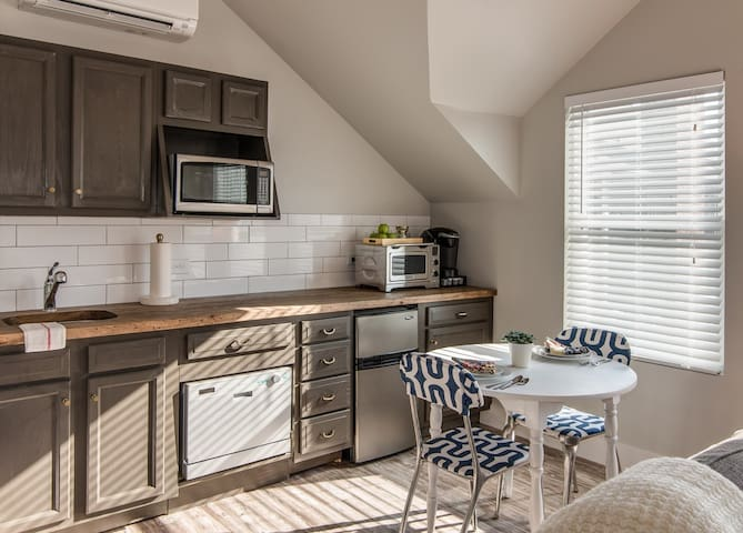 Kitchen features: dish washer, micro-wave, Keurig with coffee & tea choices, oven/toaster, mini-fridge, cooktop, blender and fully stocked dishes.