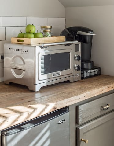 Oven to bake Nashville's Christie Cookies (you'll find in the mini freezer) & Keurig to start your morning!