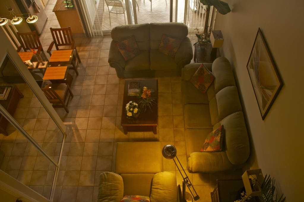 View from upstairs bedroom loft