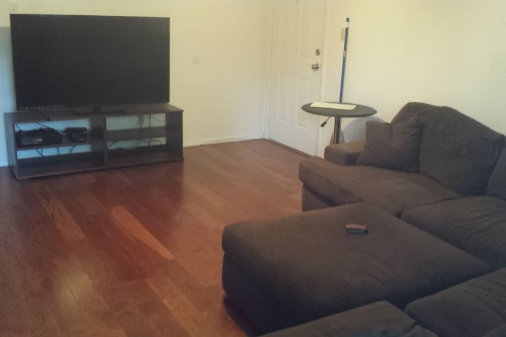 BIG comfy couch and 70 inch TV for XBOX (you can stream espn or netflix)  no cable