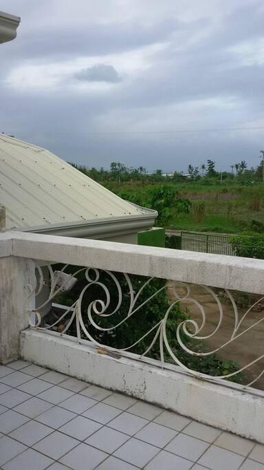 the balcony, overlooking the Romualdez Airport, San Jose, Tacloban City.