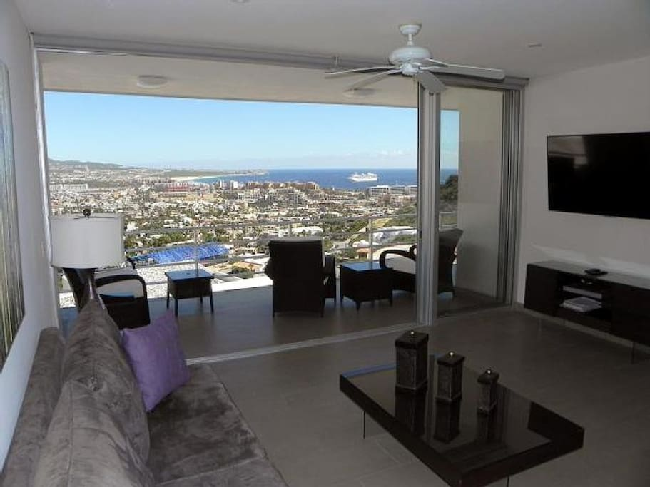 Gorgeous views from living room.
