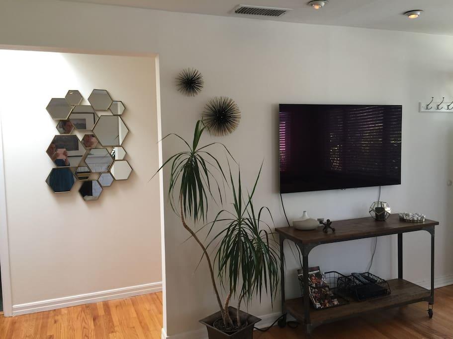 TV and hallway