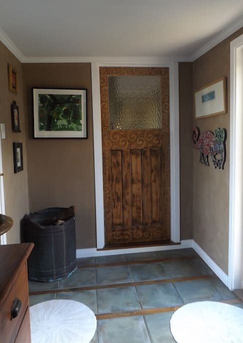 Door to main house