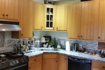 Shared Kitchen. We will provide coffee and breakfast here every morning. Bagels, fresh baked goods & yogurts.