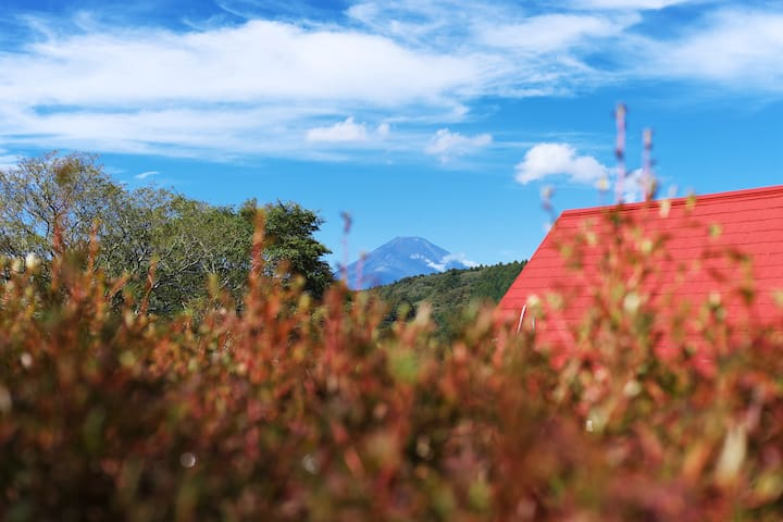 【Hakone】View of Mount Fuji【芦ノ湖Villa Rosso】