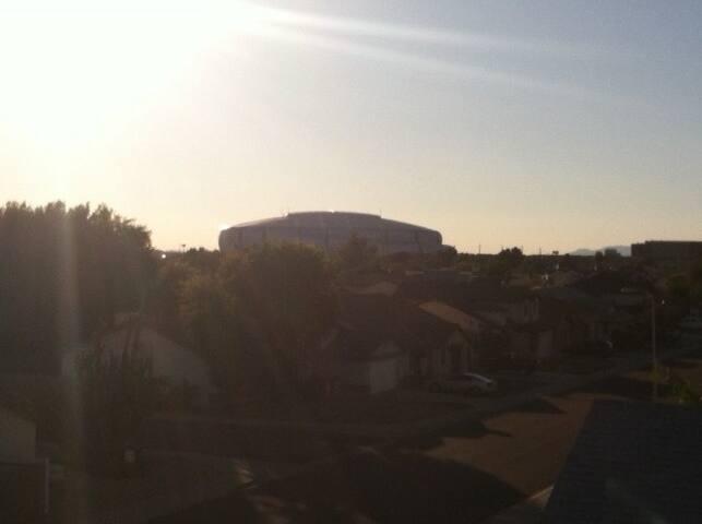 Rooftop picture of University of Phoenix Stadium