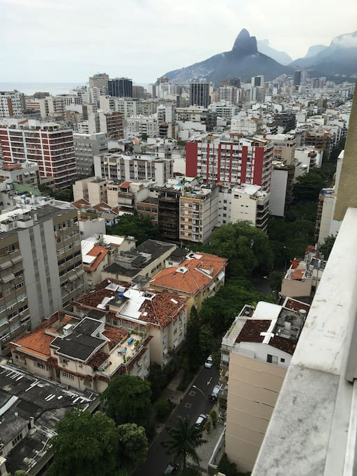 Ipanema from 20th floor of beautiful tree lined streets.