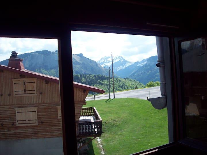 Beau petit studio situé au coeur des Alpes