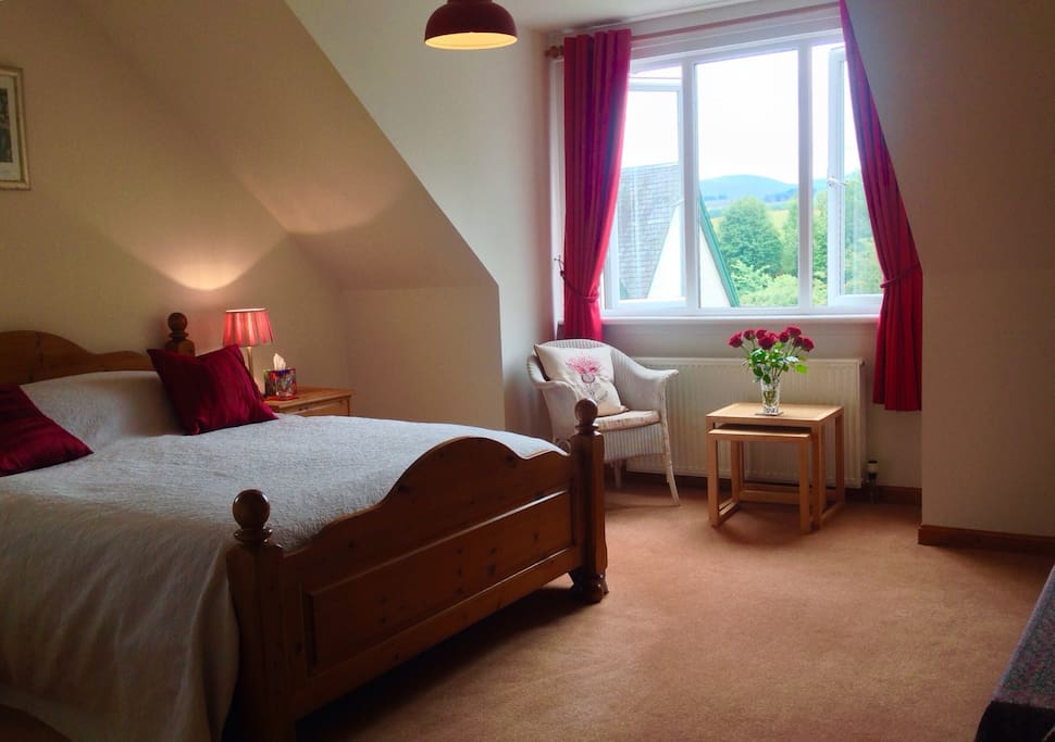 Our spacious light double room.