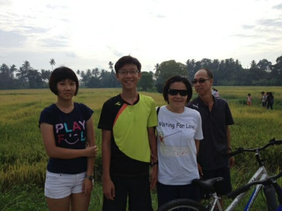 Host family escape into the greens.  You can join if you love