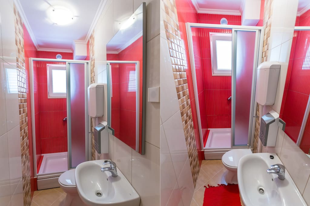 Red room bathroom